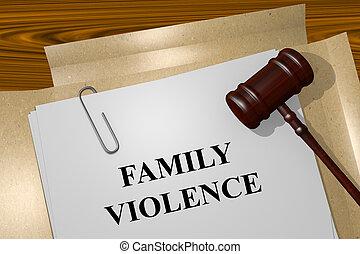 concept, famille, violence
