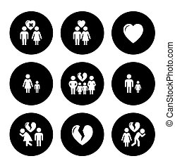 concept family help icons
