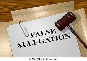 concept, faux, allegation, légal