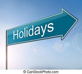 concept., feriados, sinal