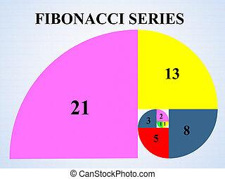 concept, fibonacci, série