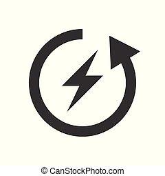 concept, fiets, milieu, vector, groene, sparen, pictogram