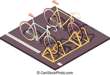 concept, fiets, parkeren