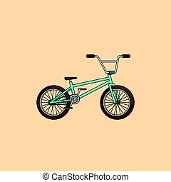 concept, fiets, spotprent, kleurrijke