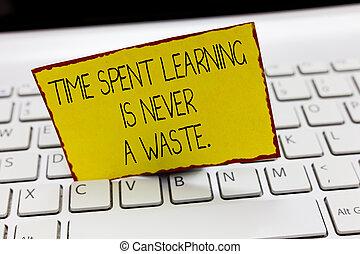 concept, fin, non, texte, jamais, education, épuisé, sagesse...