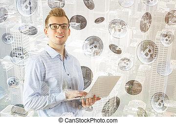 concept, finance, e-affaires