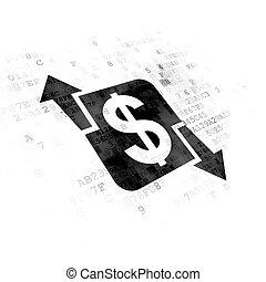 concept:, finance, fond, numérique