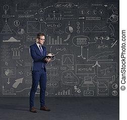 concept, financiën, succes, zakelijk, zakenman, investering