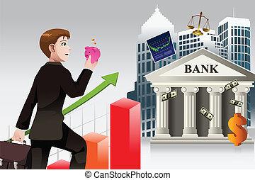 concept, financiën, zakelijk