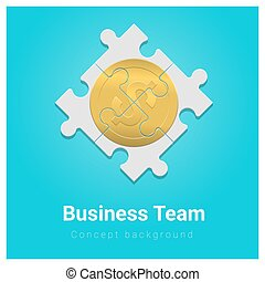 concept, financiën, zakelijk, geld, raadsel, jigsaw, 3, achtergrond