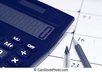 concept, financieel, kantoor, desktop