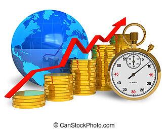 concept, financieel succes