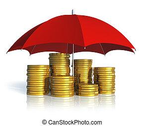 concept, financieel, zakelijk, succes, stabiliteit, verzekering