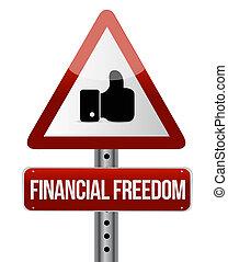 concept, financier, aimer, liberté, signe, rue