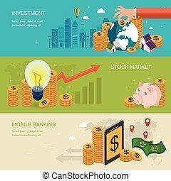 concept financier, bannière