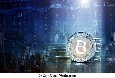 concept, financier, bitcoin