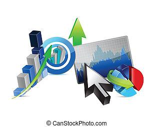 concept, financier, business, économie