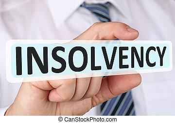 concept, financier, business, insolvabilité, homme affaires, crise, failli