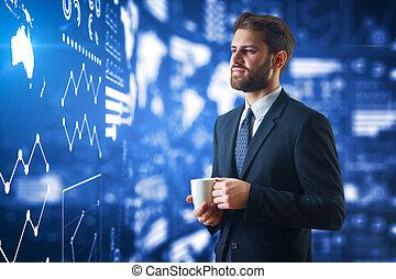 concept financier, croissance