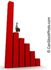 concept financier, diagramme croissance, business