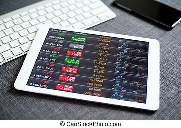 concept financier, données, analyse