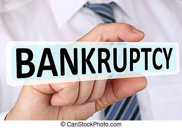 concept, financier, failli, business, depts, homme affaires, crise, faillite