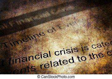 concept financier, grunge, crise