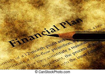 concept financier, grunge, plan