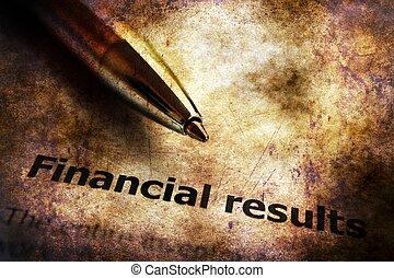 concept financier, grunge, résultat