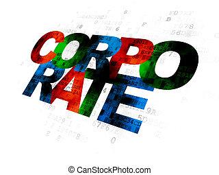 concept:, finanza corporativa, fondo, digitale