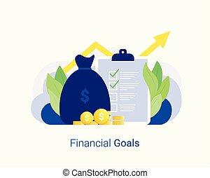 concept., finanzielle ziele, erfolg