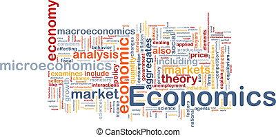 concept, fond, économie