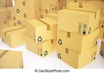 concept arri re plan parcels pile livraison rendre clip art rechercher illustration. Black Bedroom Furniture Sets. Home Design Ideas