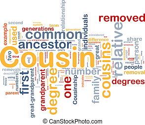concept, fond, cousin