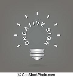 concept, fond, lumière, couverture, idée, illustration, créatif, aviateur, conception, background.vector, affiche, brochure, ampoule, dea