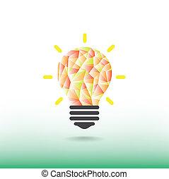 concept, fond, lumière, couverture, idée, illustration, créatif, aviateur, conception, background.vector, affiche, brochure, ampoule