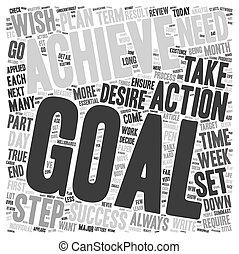 concept, fond, texte, wordcloud, étapes, buts, achievable