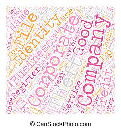 concept, fond, texte, wordcloud, vol, identité corporation