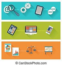 Concept for business development, web analytics