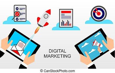 Concept for Digital marketing.