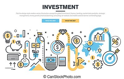 Concept for global investment - Flat line design concept for...