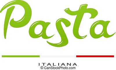 Concept for italian pasta. Spaghetti logo design. Italy traditional food. Isolated white background. Eps10 vector illustration.
