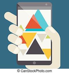 Concept For Mobile Apps, Flat Design