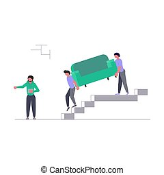 Movers carring a sofa