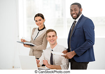 Concept for multi-ethnic business team