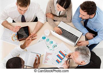 Concept for multi-ethnic business team