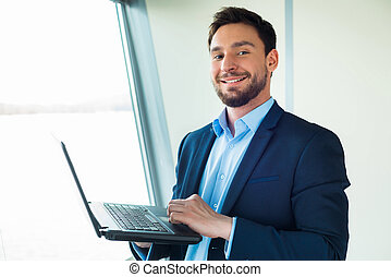 Concept for young modern businessman