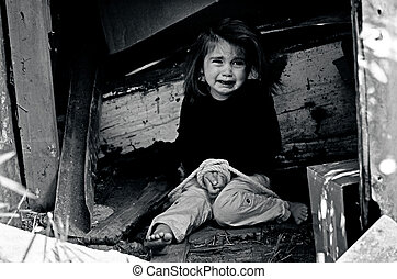 concept, foto, -, trafficking, menselijk, kinderen