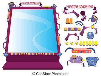 concept, frame, vector, computer illustratie