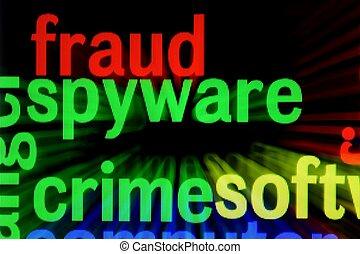 concept, fraude, spyware, crime